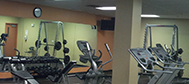 A gym is located in the building free of charge for students