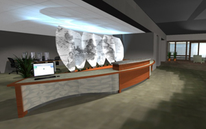 Design of new Folsom Library circulation desk
