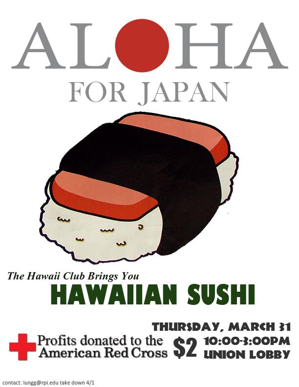 Spam Musubi Drawing Hawaiian Sushi Musubi to
