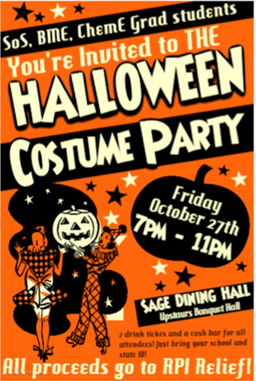 Grad Halloween Party