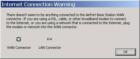 Internet Connection Warning