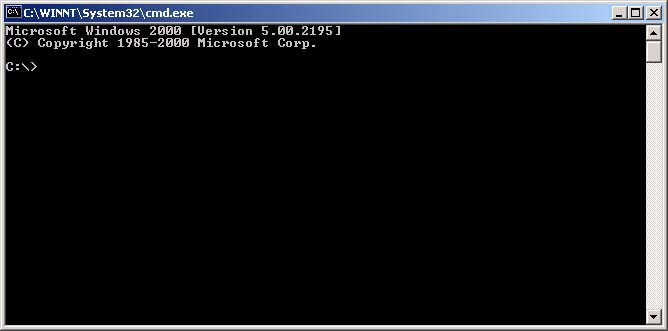 Windows XP and 2000 command prompt