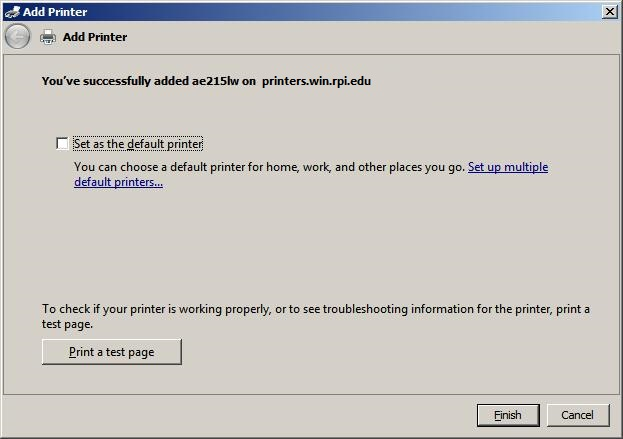 Printing to RCS Printers from Windows 7 64-bit   Division of