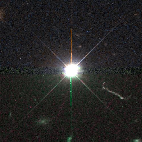 Nouvel arrivé sur votre planète exotique 3C273rgb